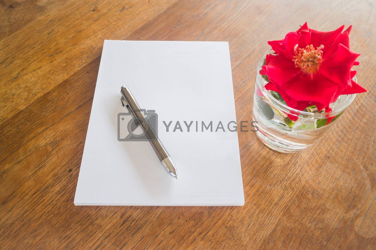 Royalty free image of Preparing to write love letter  by nalinratphi