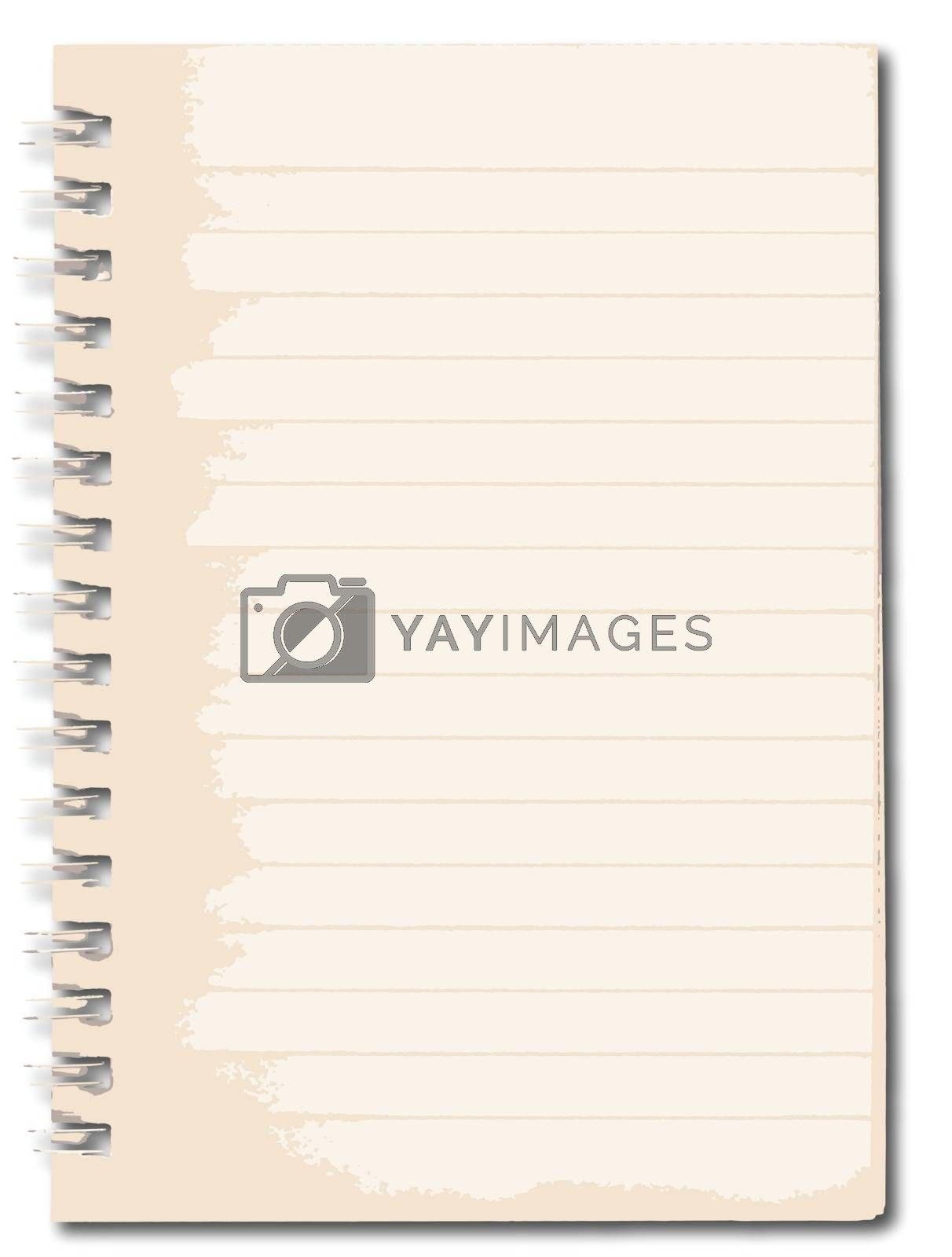 Royalty free image of Notebook by Bigalbaloo