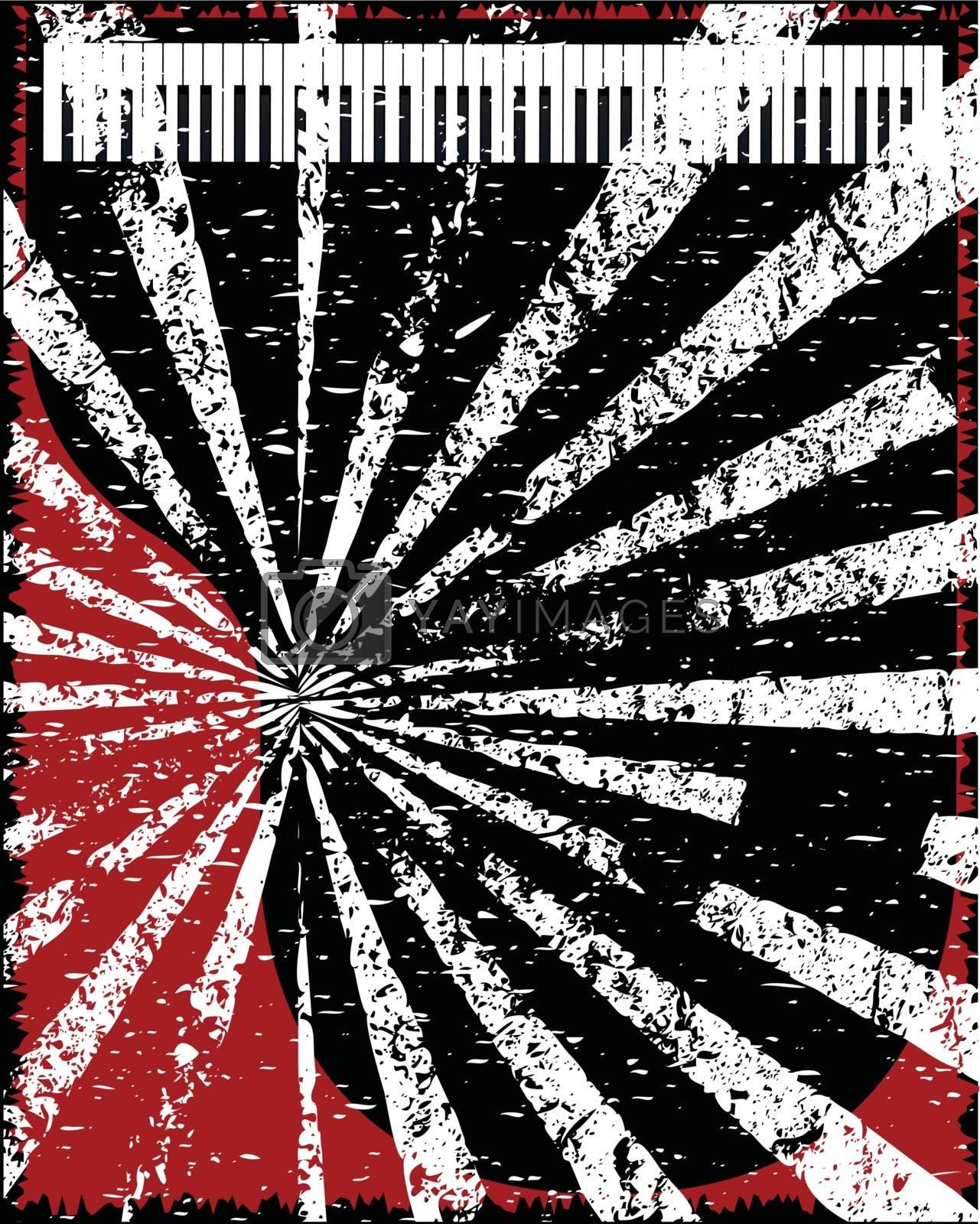 Royalty free image of Jazz Grunge Piano Background by Bigalbaloo
