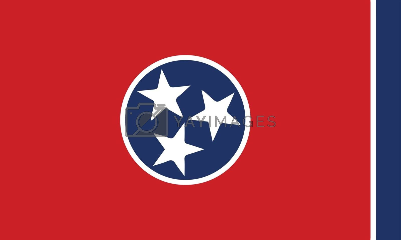 Royalty free image of Flag of Tennessee by Bigalbaloo