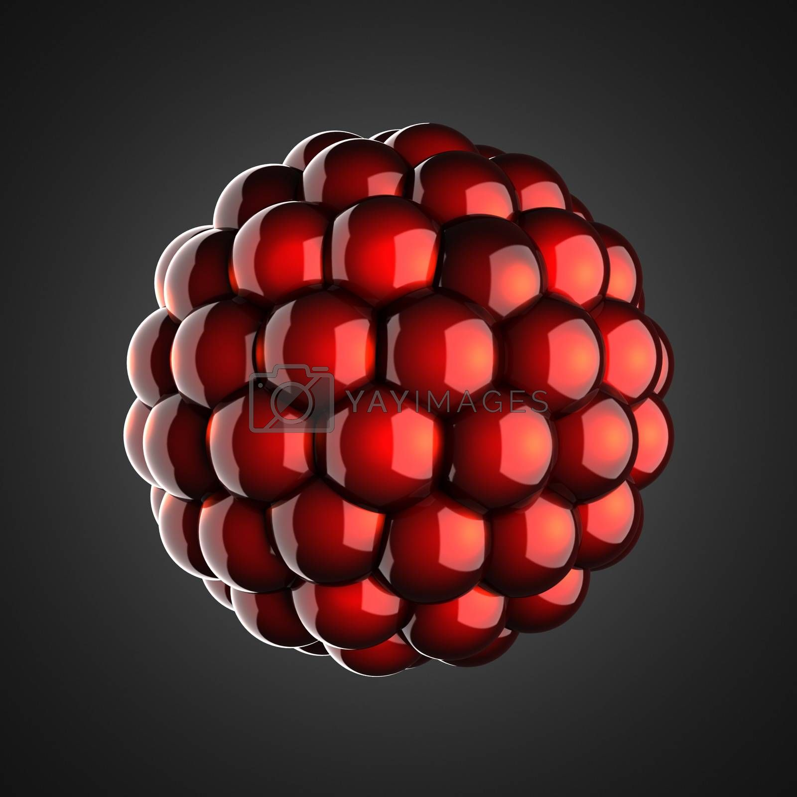 Royalty free image of A single atom scientific illustration by videodoctor