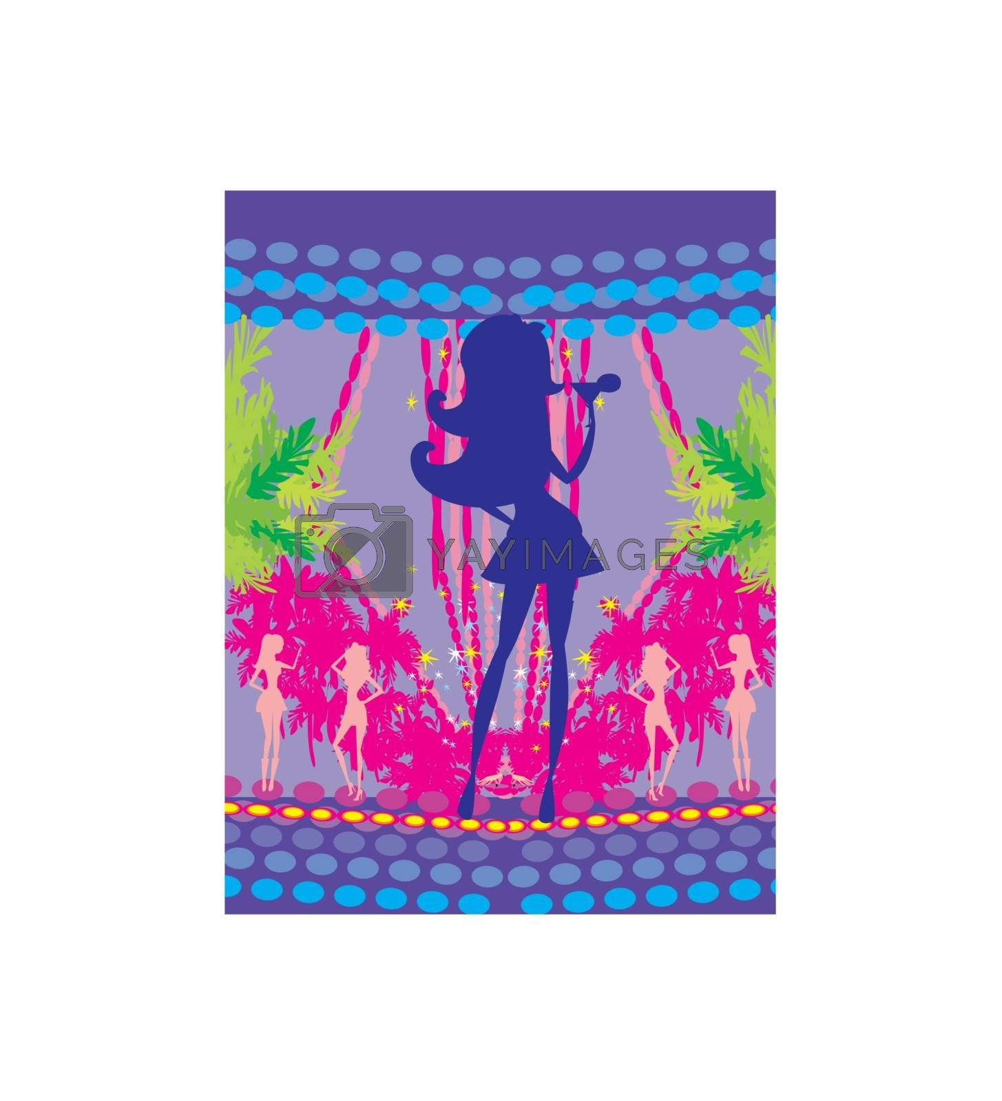 Royalty free image of Sexy party girls - party frame by JackyBrown