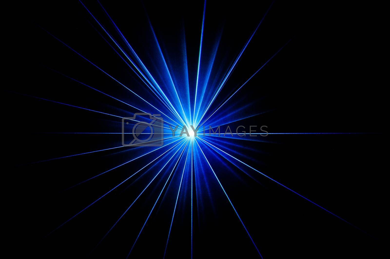 Royalty free image of Blue laser by Symbolic