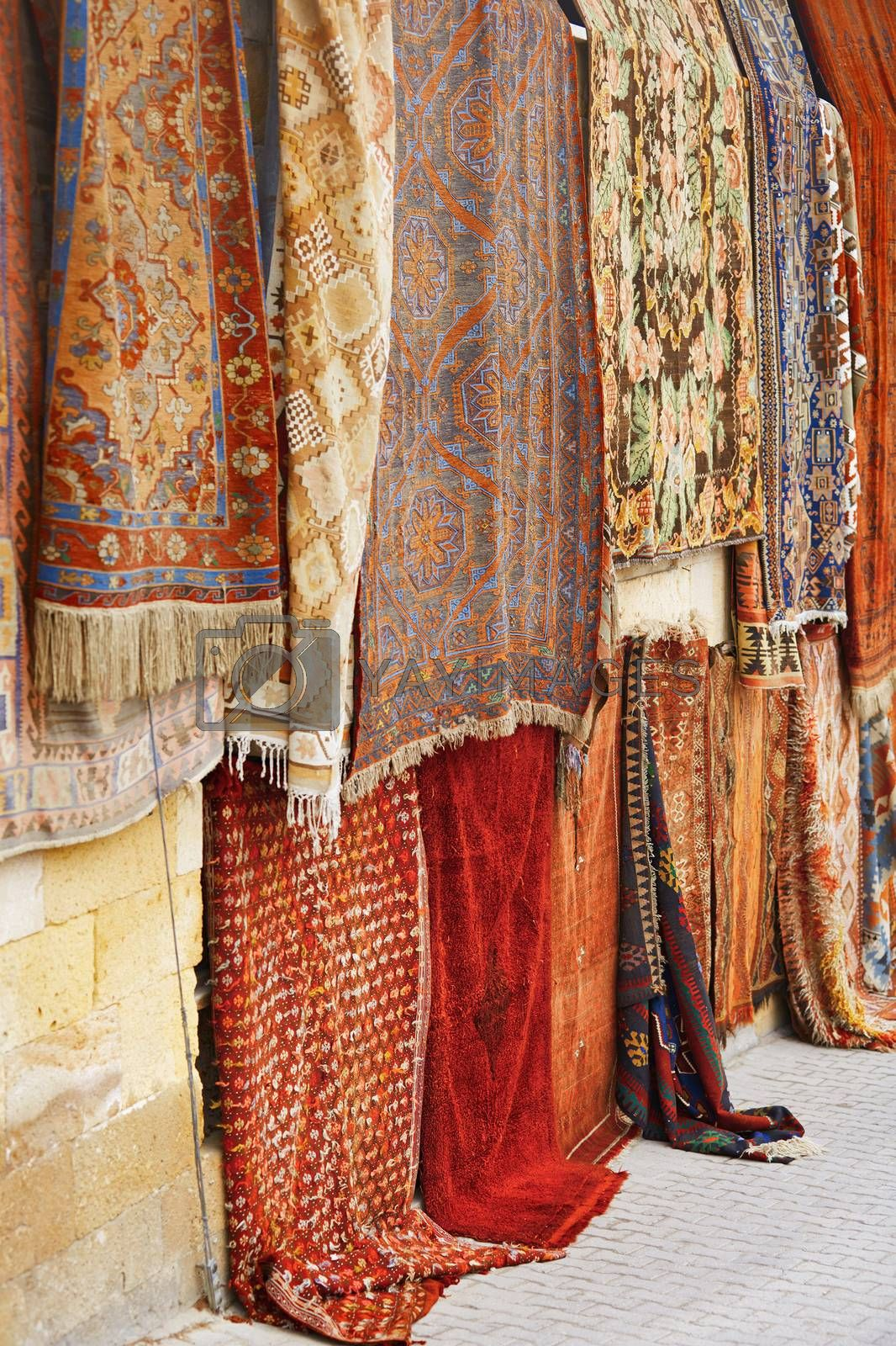 Carpets at open-air flee market