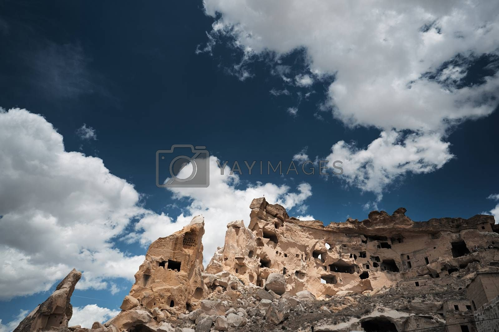 Royalty free image of Ancient stone houses of Cappadocia by Novic
