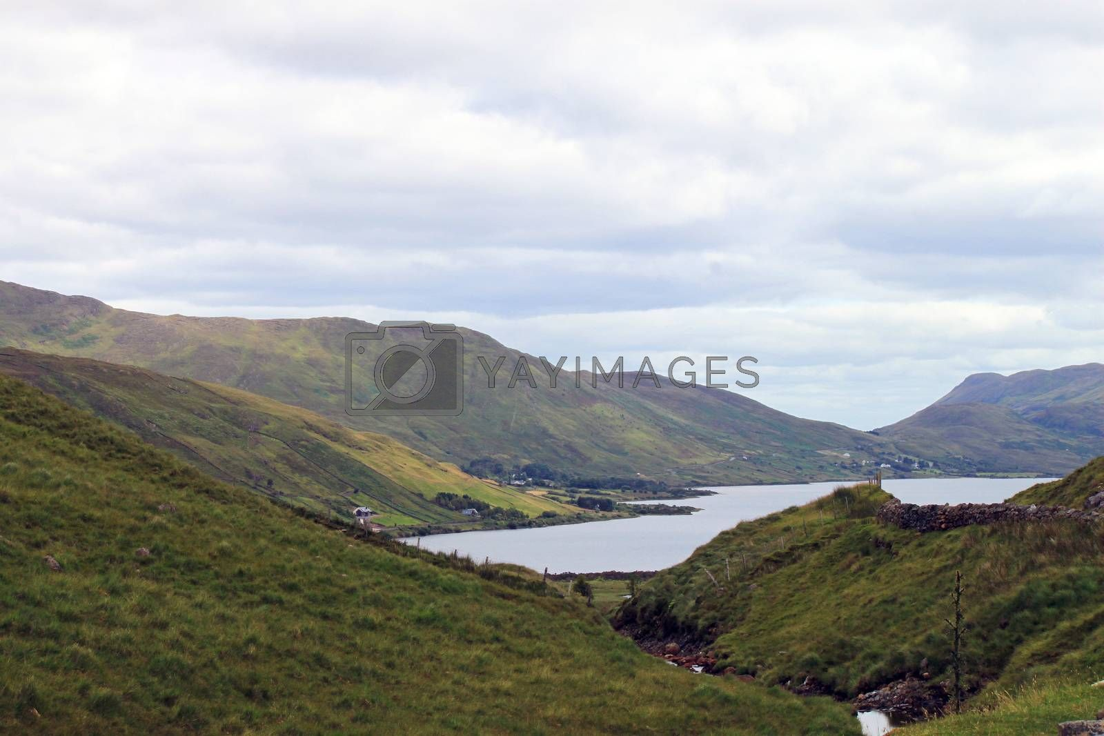 Royalty free image of Landscape with a lake and mountains by a_phoenix