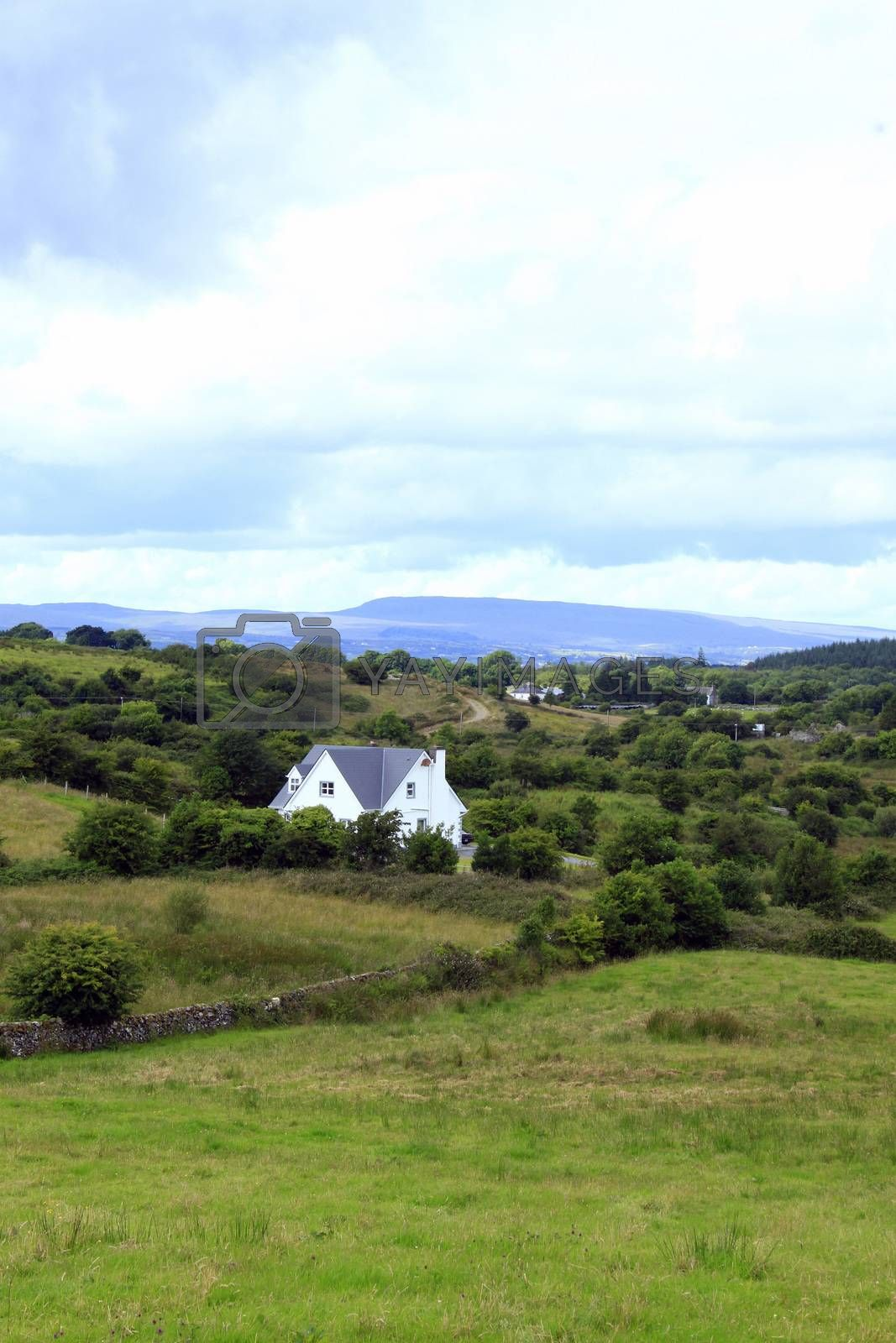 Royalty free image of Landscape with house by a_phoenix