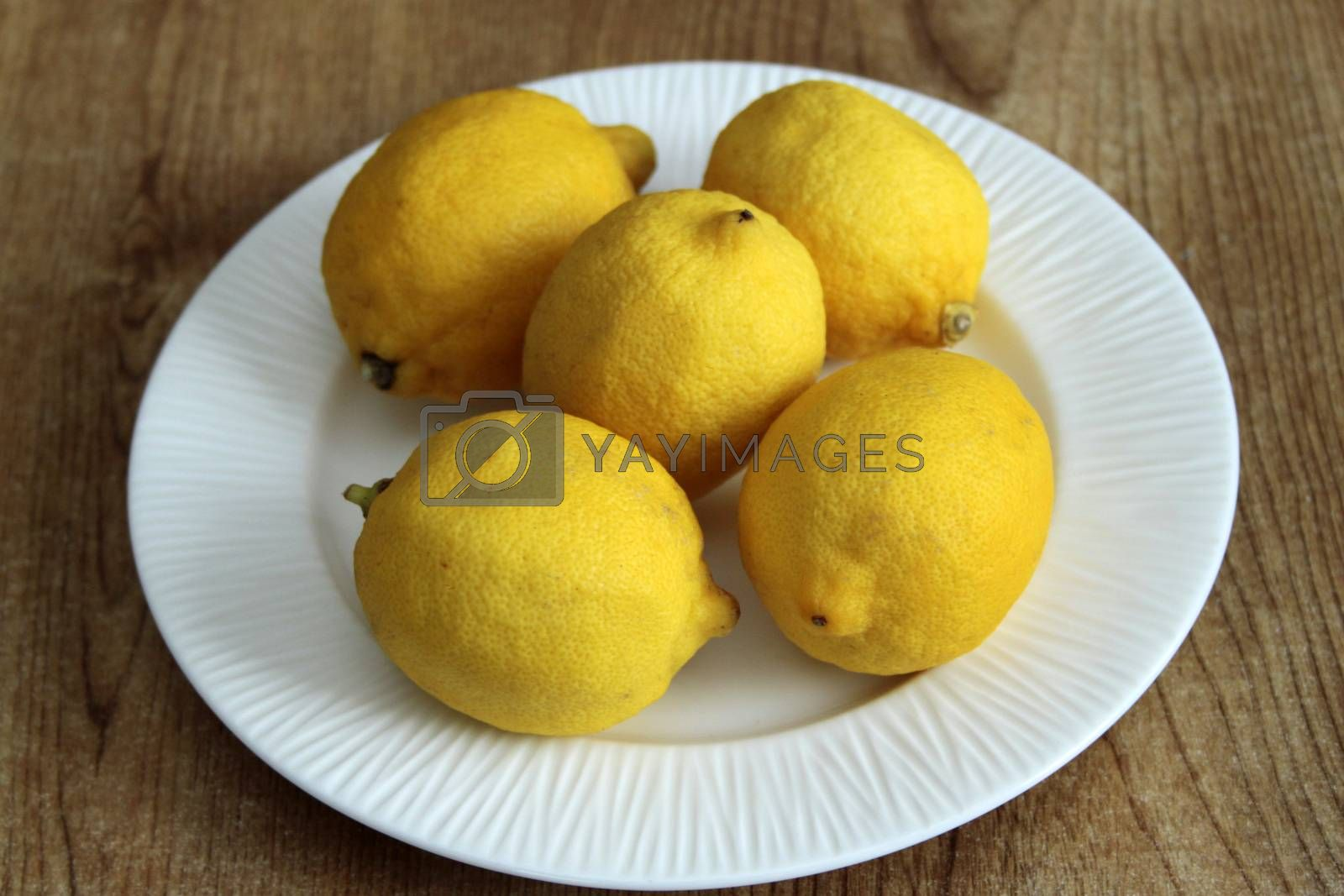 Royalty free image of Plate of Lemons by a_phoenix