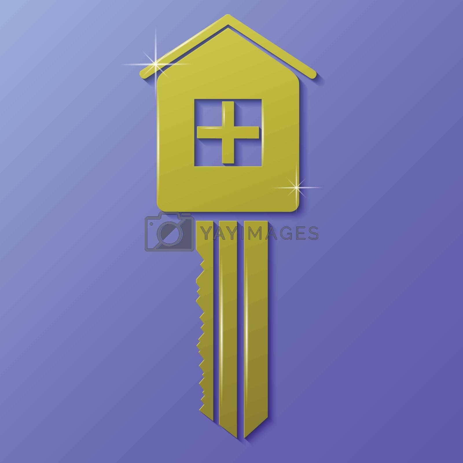 Royalty free image of house key by valeo5