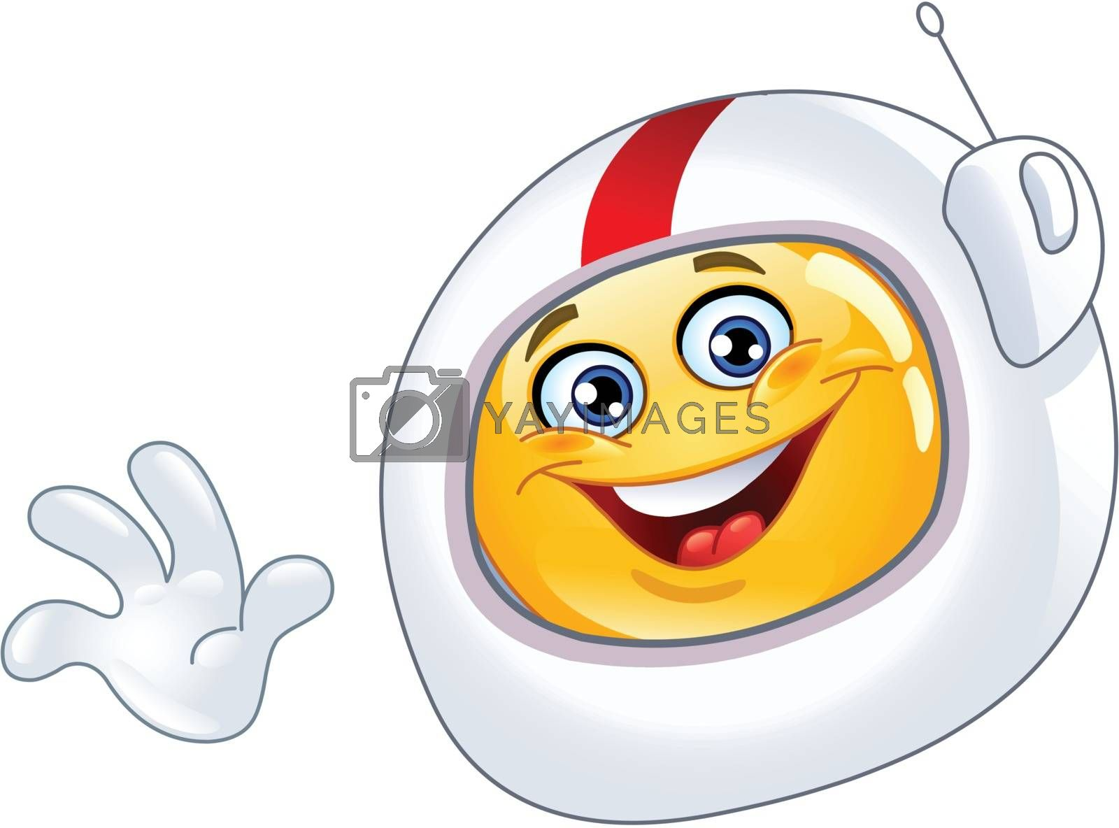 Royalty free image of Astronaut emoticon by yayayoyo