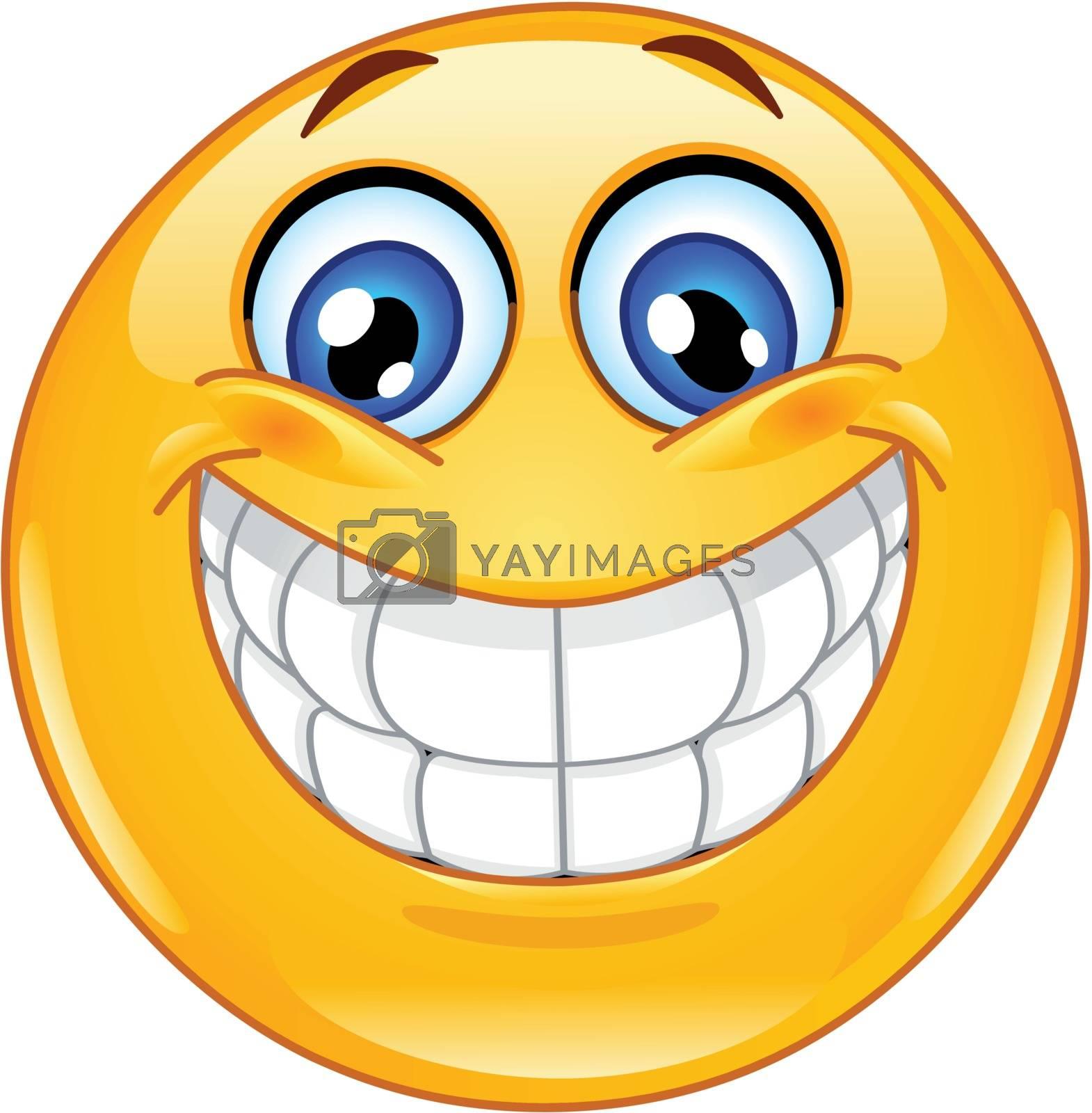 Royalty free image of Big smile emoticon by yayayoyo