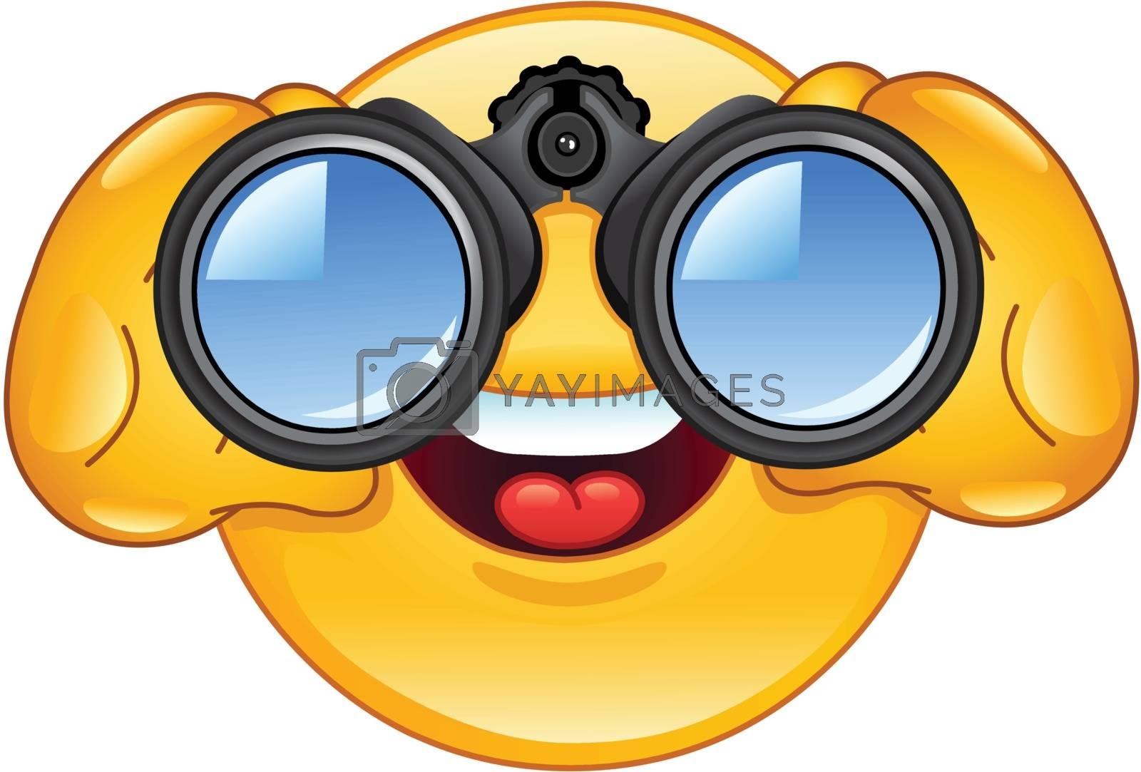 Royalty free image of Binoculars emoticon by yayayoyo