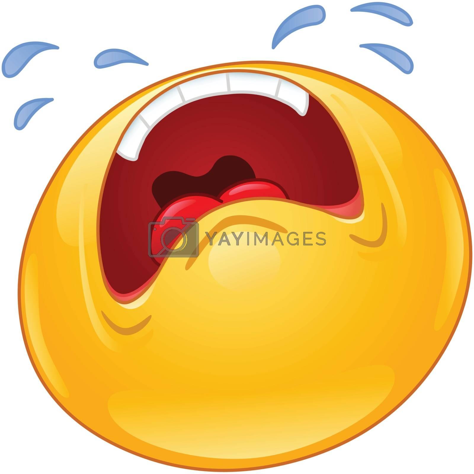 Royalty free image of Crying emoticon by yayayoyo