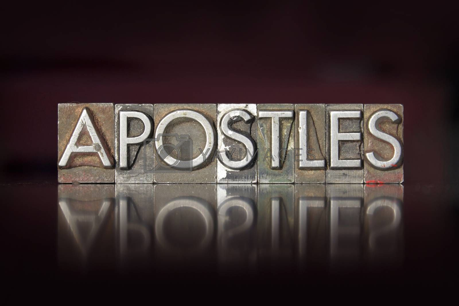Royalty free image of Apostles Letterpress by enterlinedesign