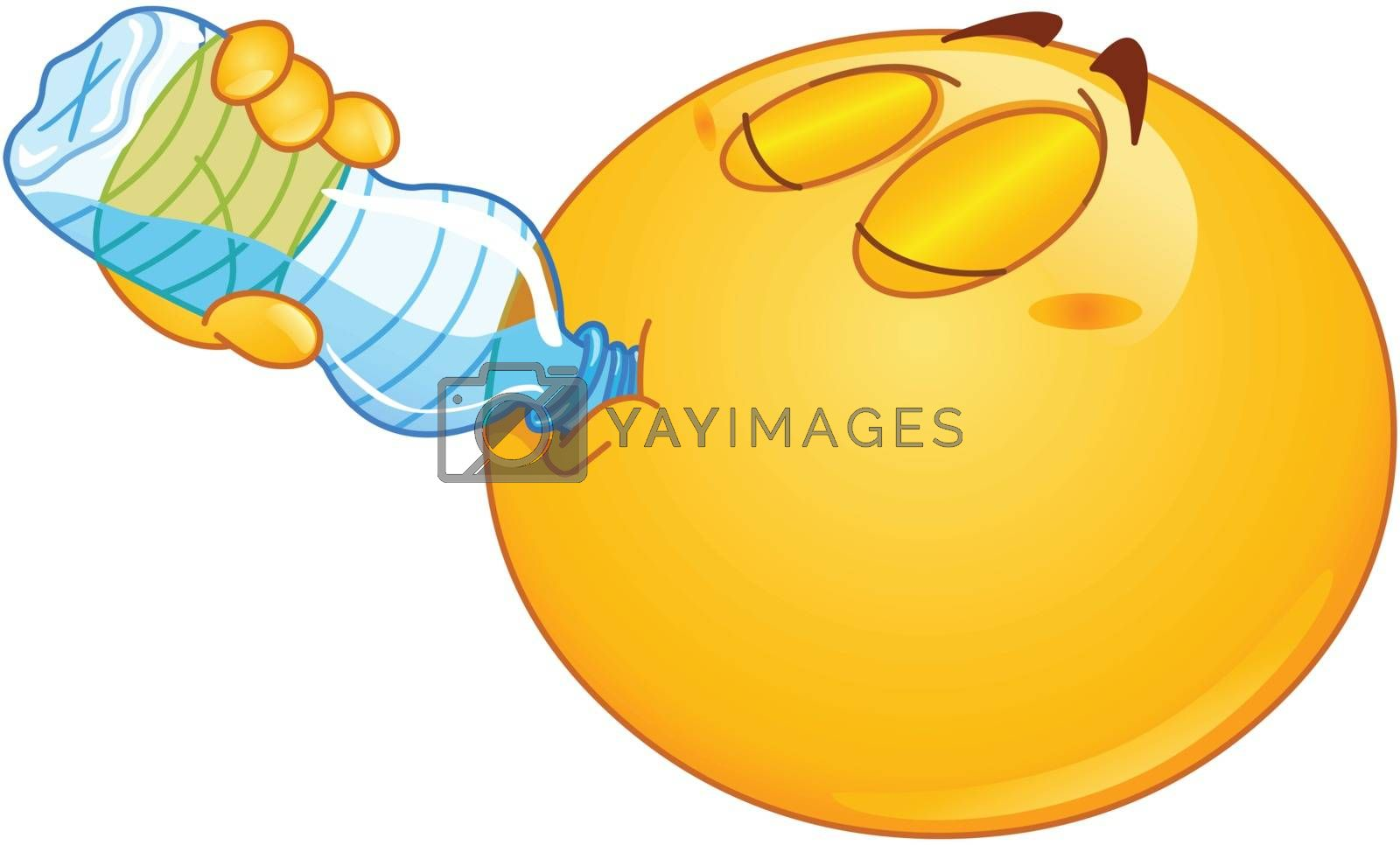 Royalty free image of Drinking water emoticon by yayayoyo