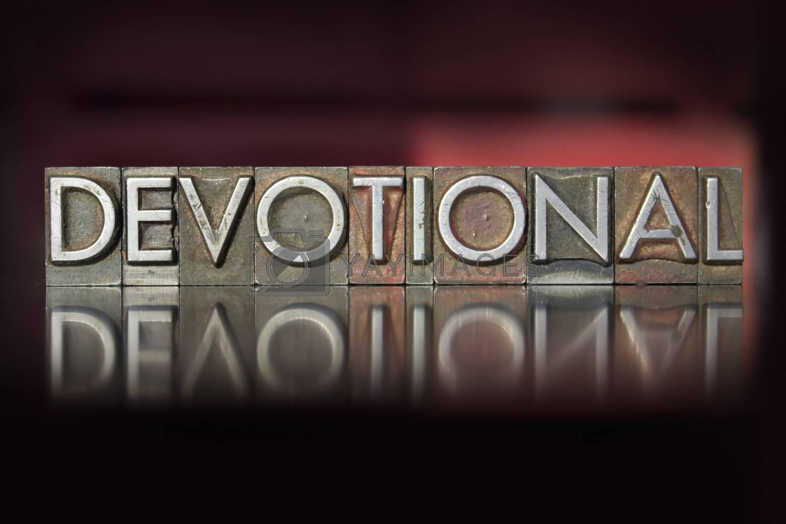 Royalty free image of Devotional Letterpress by enterlinedesign