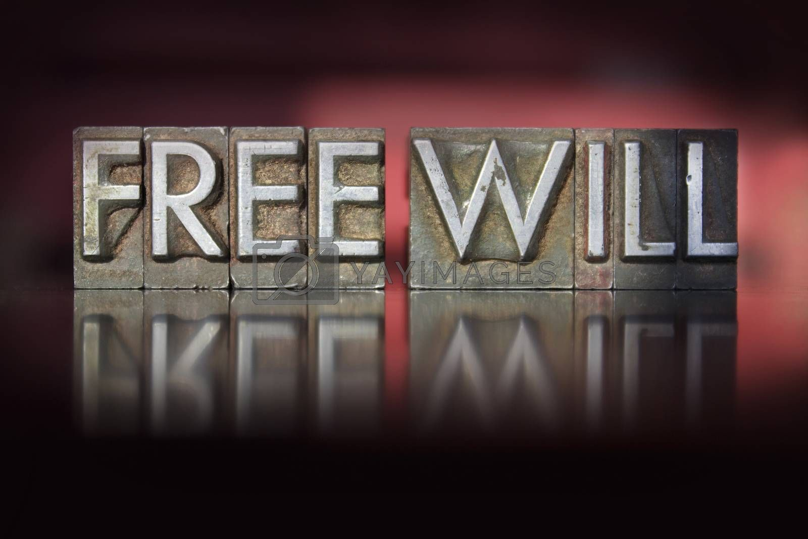 Royalty free image of Free Will Letterpress by enterlinedesign