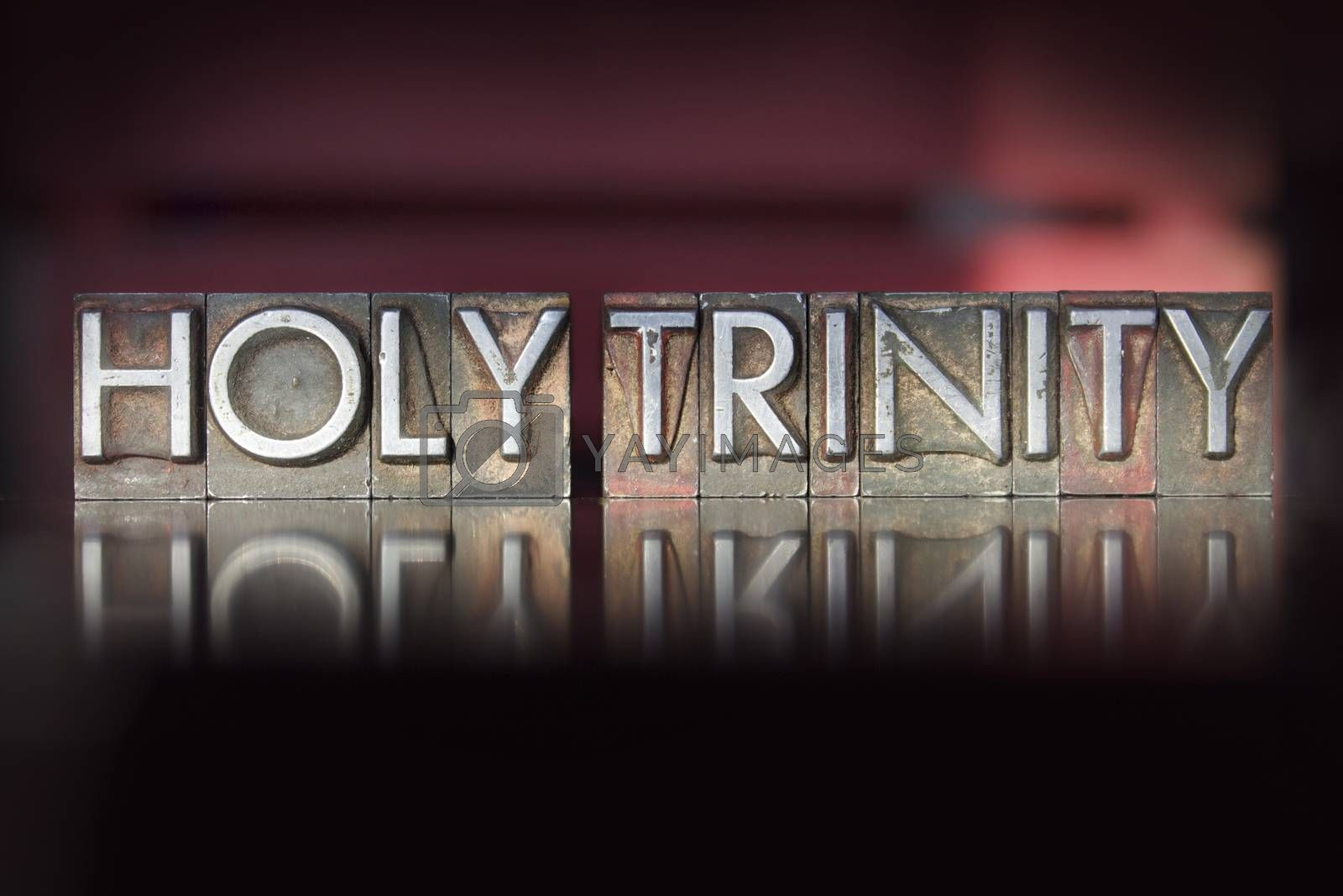 Royalty free image of Holy Trinity Letterpress by enterlinedesign
