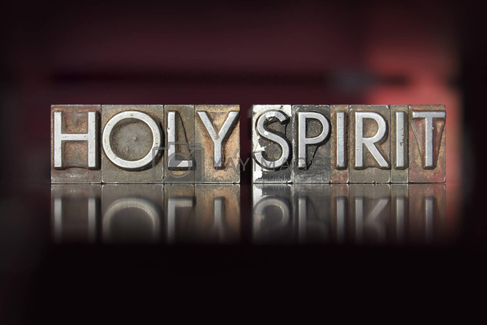 Royalty free image of Holy Spirit Letterpress by enterlinedesign