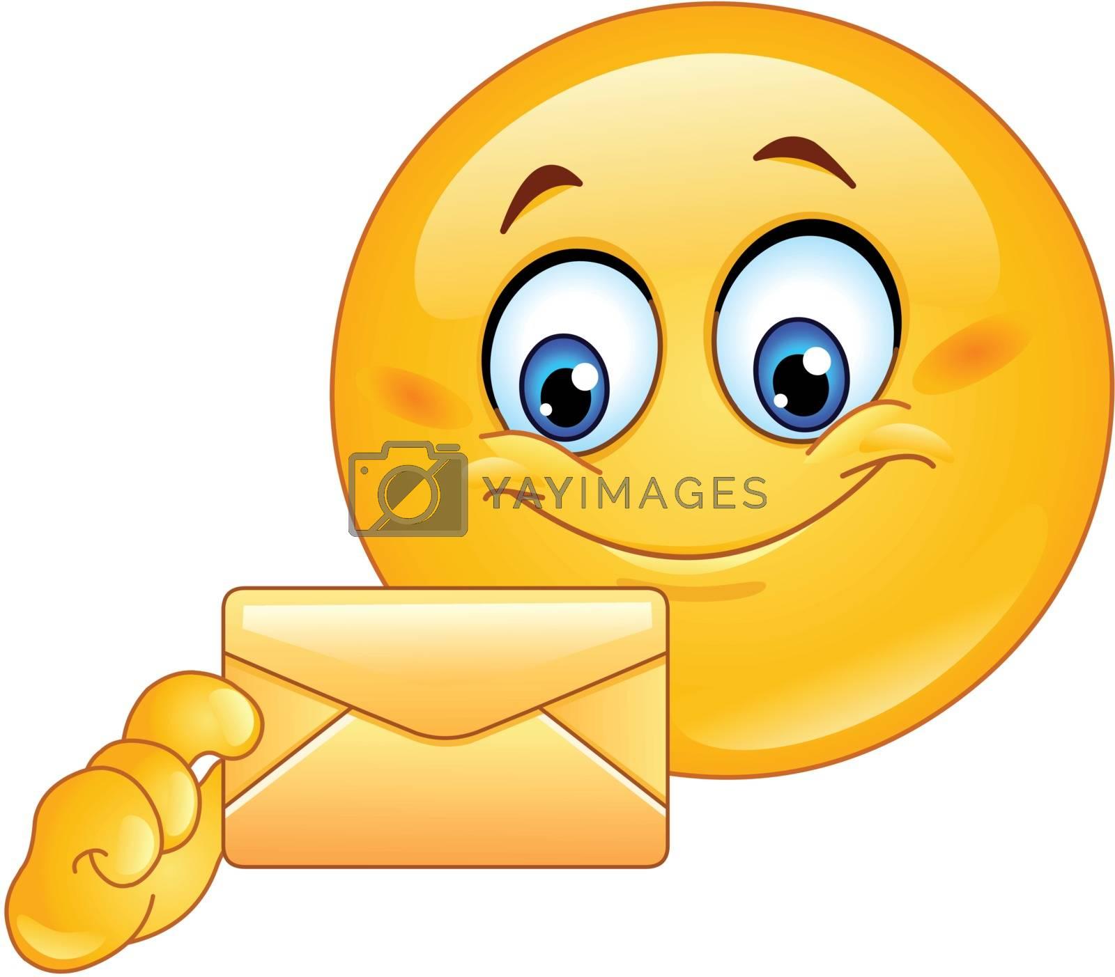 Royalty free image of Emoticon with envelope by yayayoyo