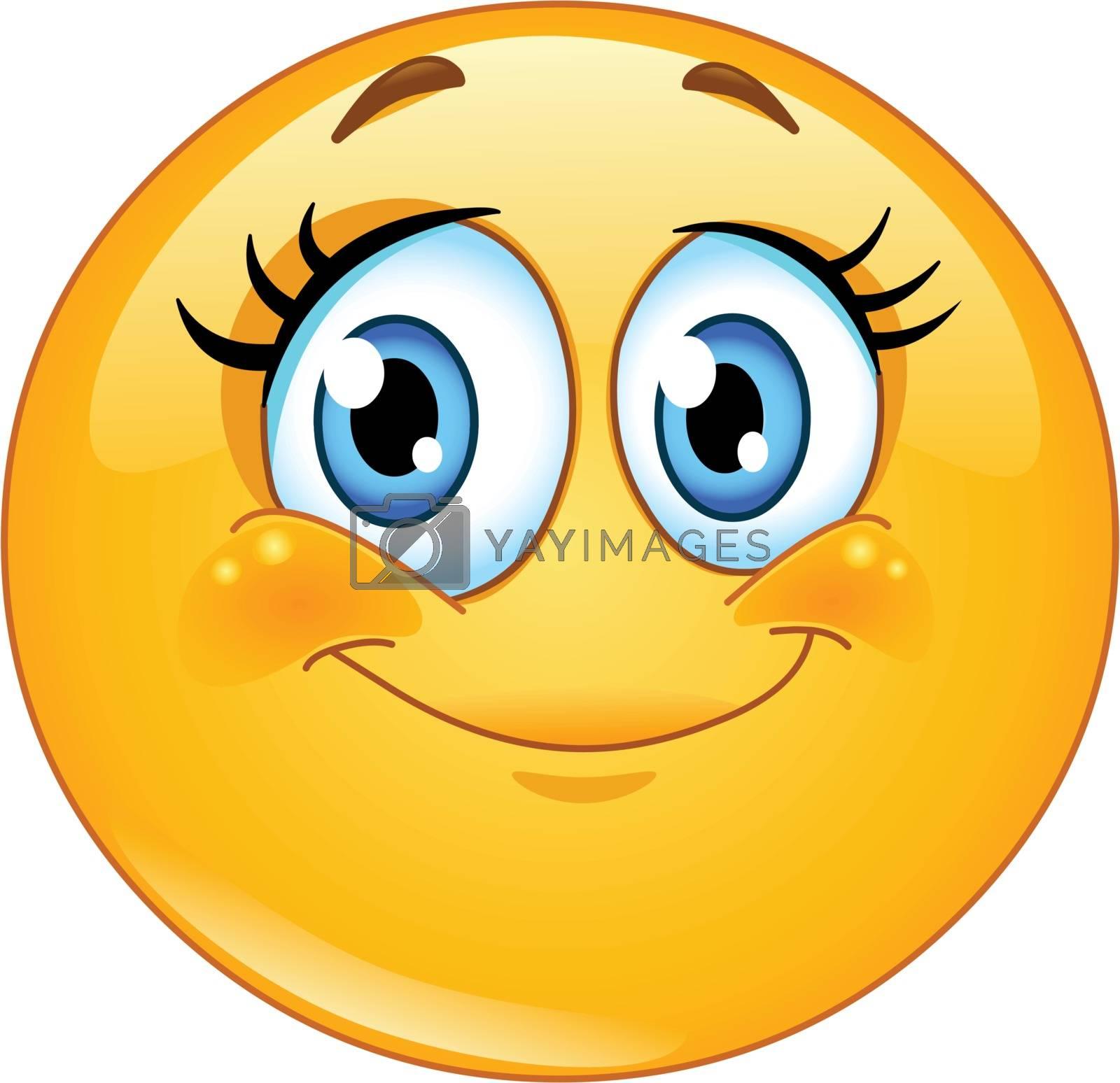 Royalty free image of Eyelashes emoticon by yayayoyo