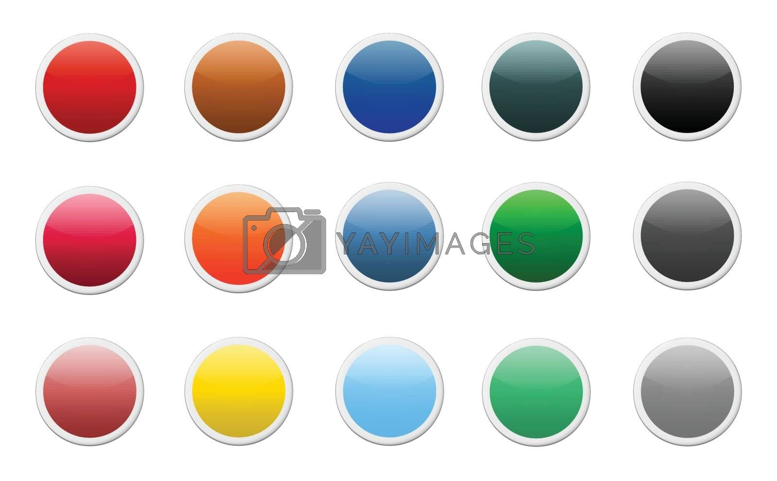 Royalty free image of Set of colored round buttons by doraclub