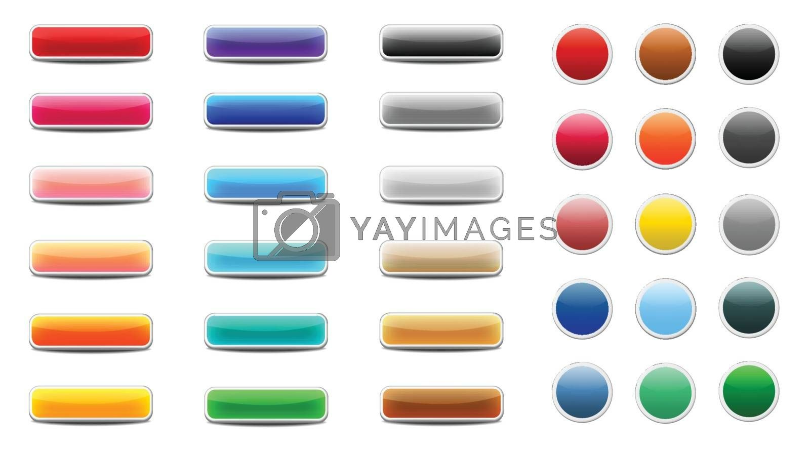 Royalty free image of Set of colored web buttons by doraclub