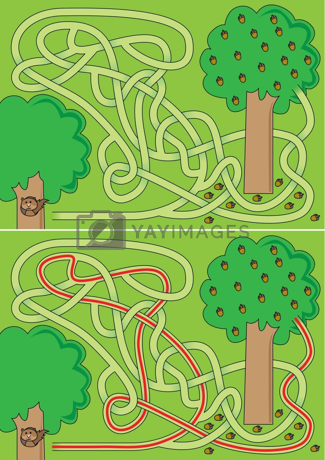 Royalty free image of Squirrel maze by nahhan