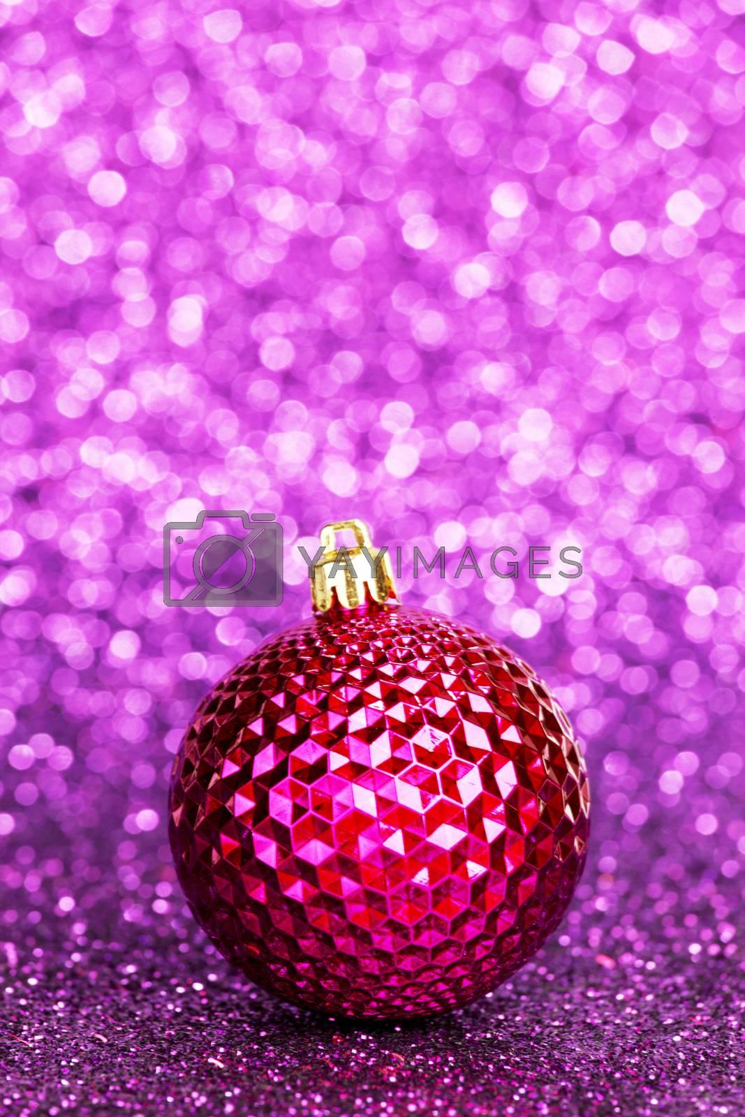 Royalty free image of Beautiful christmas ball by Yellowj