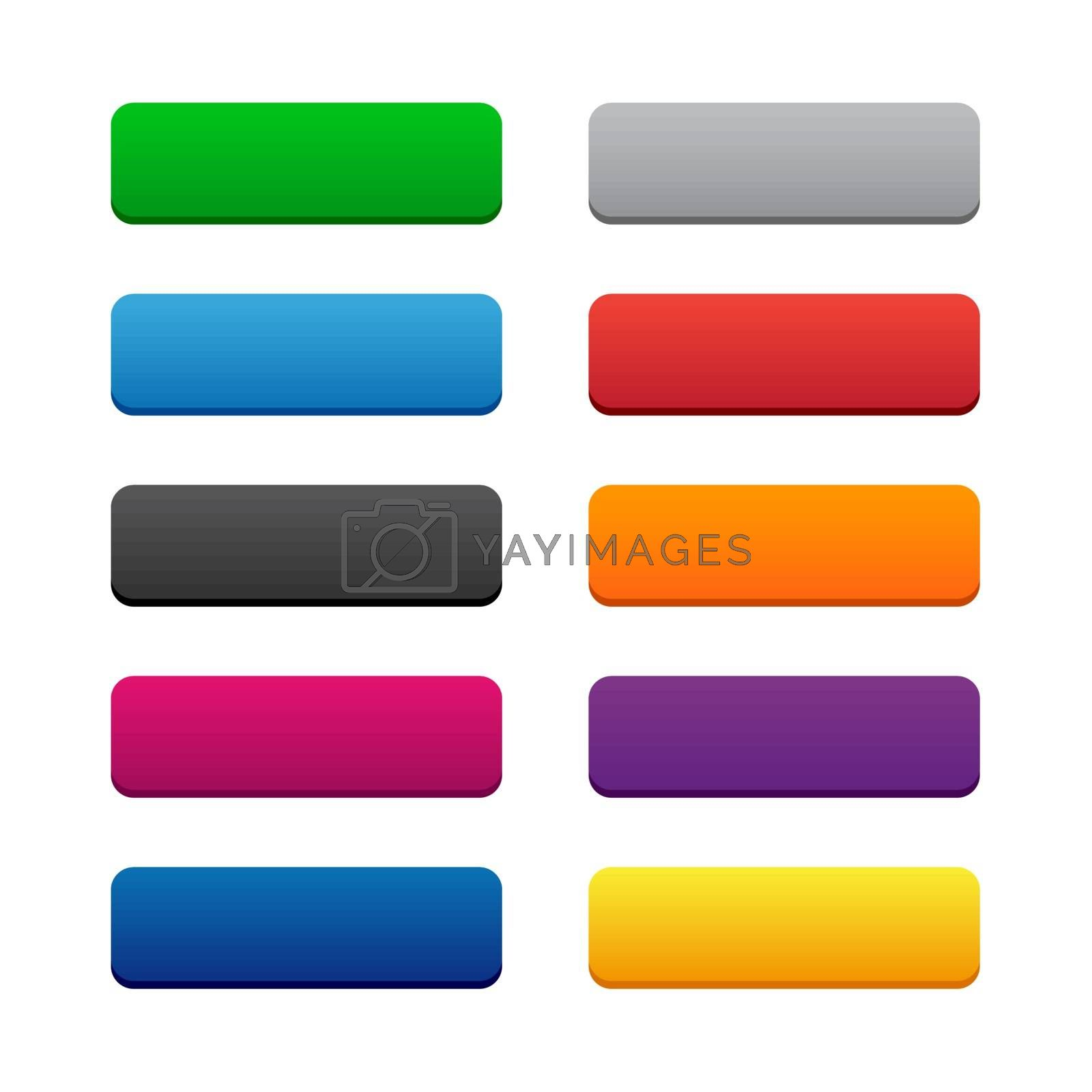 Royalty free image of Blank web buttons by simo988