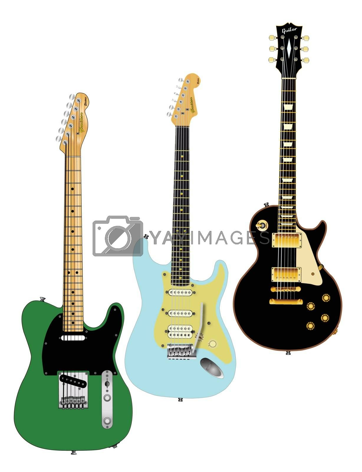 Royalty free image of Guitar Collection by Bigalbaloo