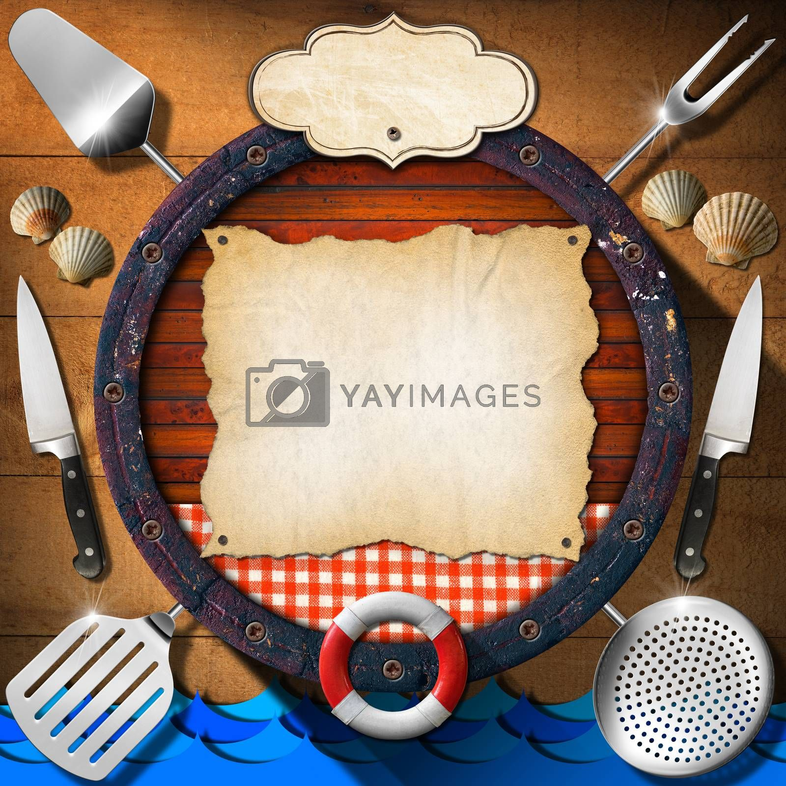 Royalty free image of Seafood - Menu Template by catalby