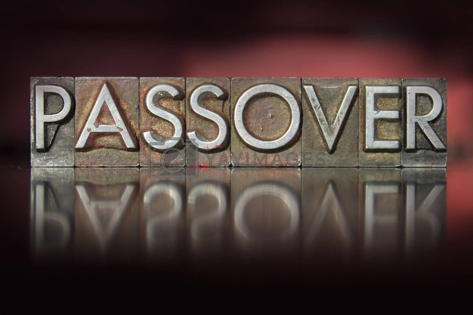 Royalty free image of Passover Letterpress by enterlinedesign