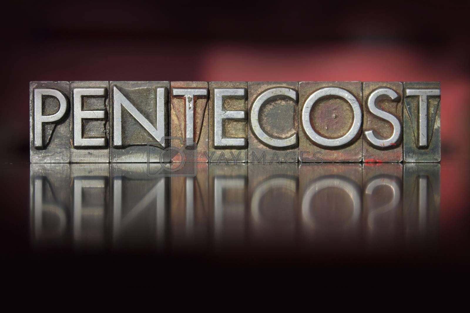 Royalty free image of Pentecost Letterpress by enterlinedesign