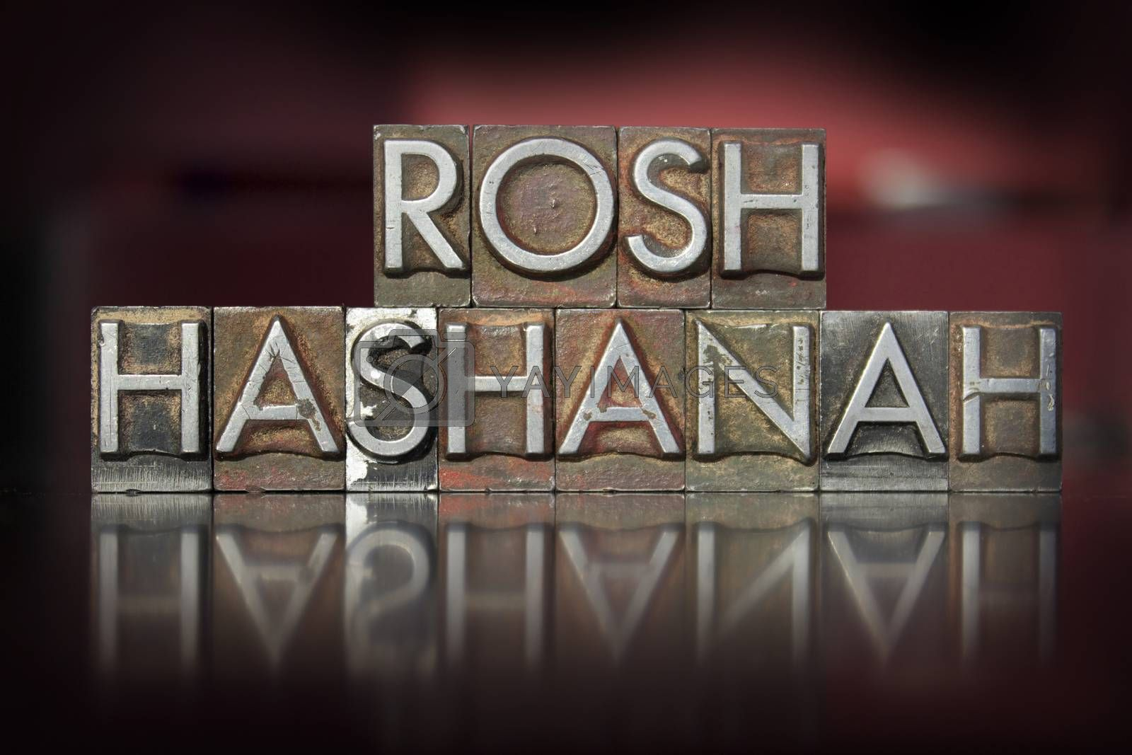 Royalty free image of Rosh Hashanah Letterpress by enterlinedesign