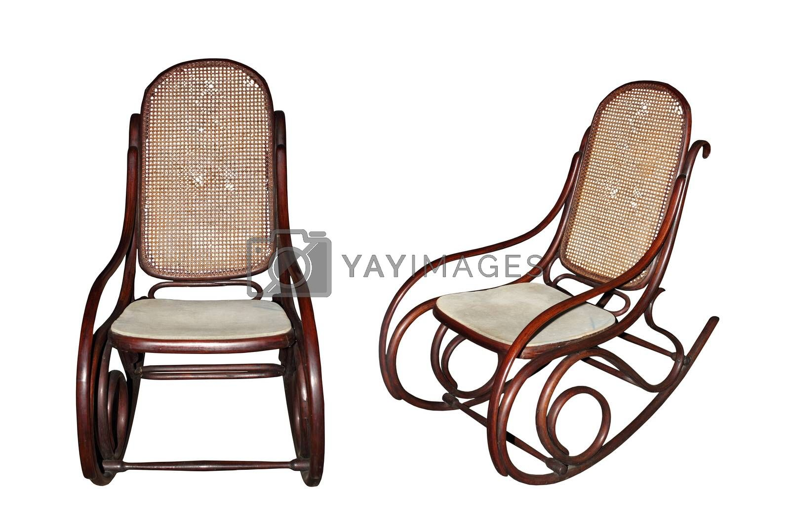 Royalty free image of old isolated chair by taviphoto