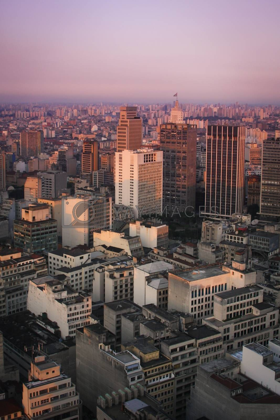Royalty free image of Sunset over Sao Paulo by betweenthecircles