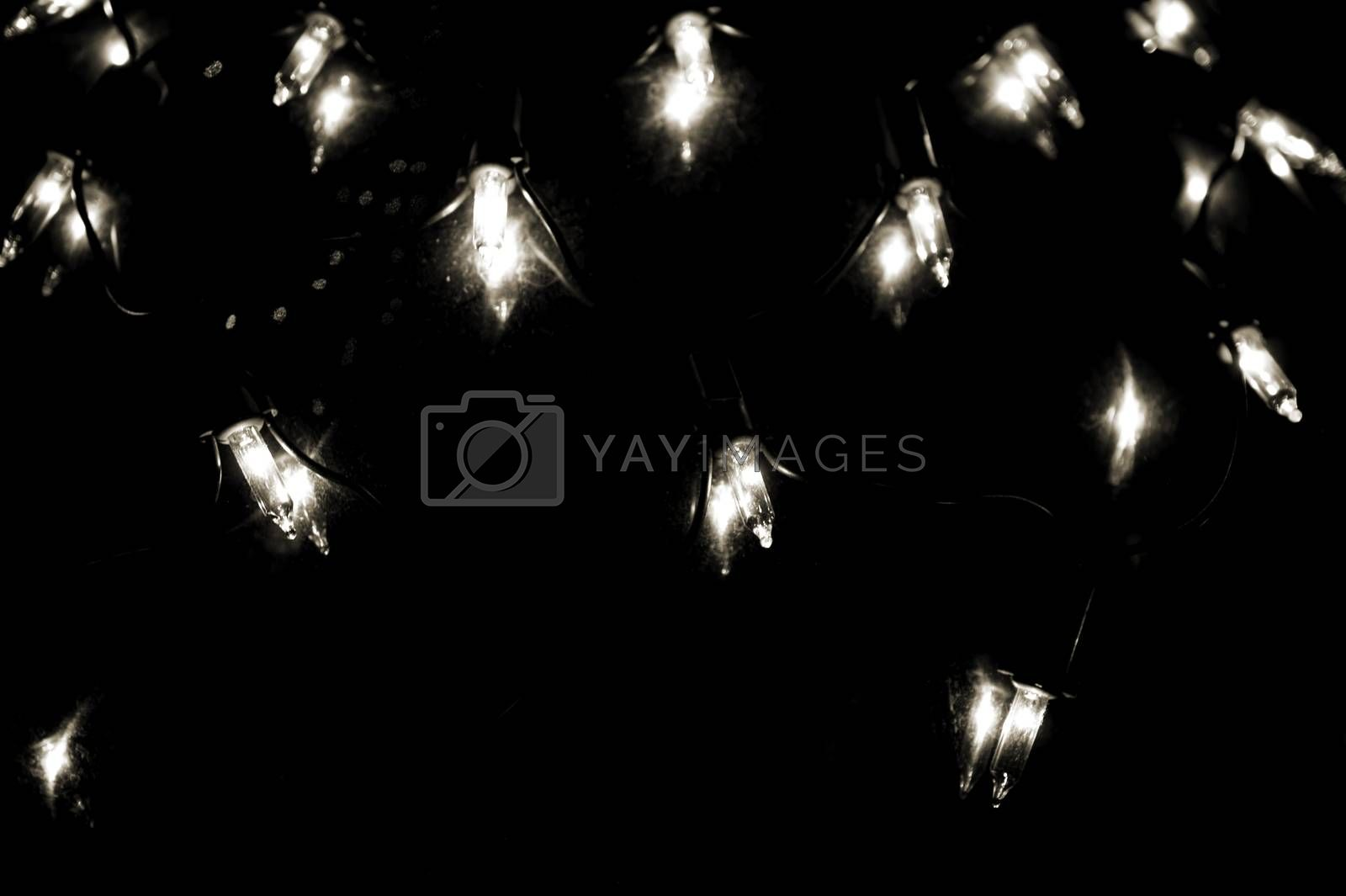 Royalty free image of Christmas Lights in the dark by ginton