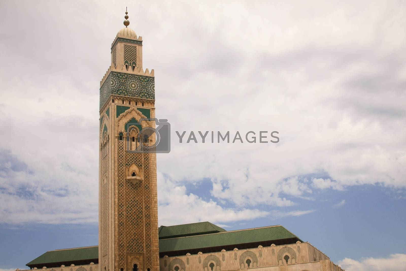 Royalty free image of Hassan II Mosque by betweenthecircles