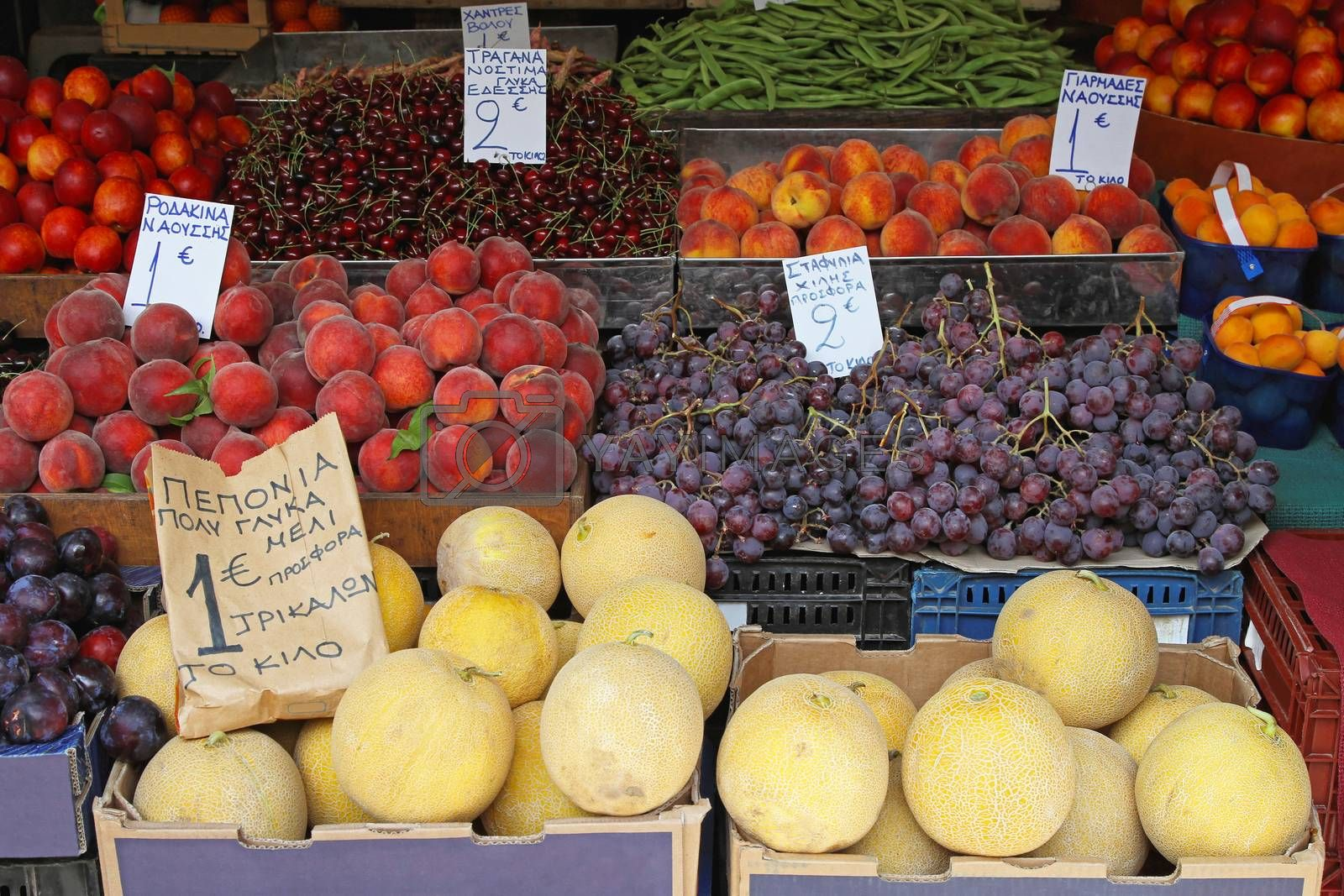 Royalty free image of Fruits and veggies by Baloncici