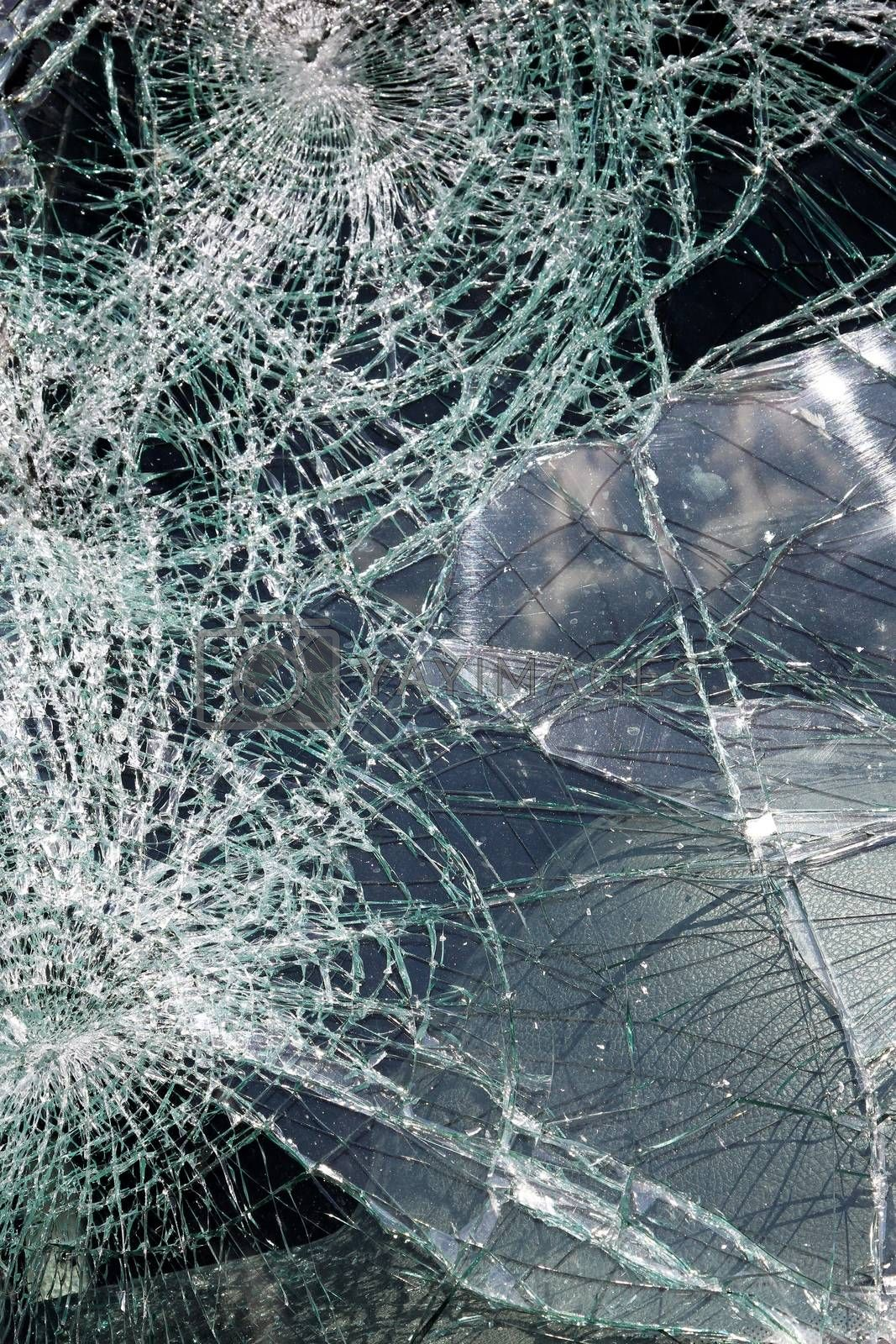 Royalty free image of Cracked windshield by Baloncici