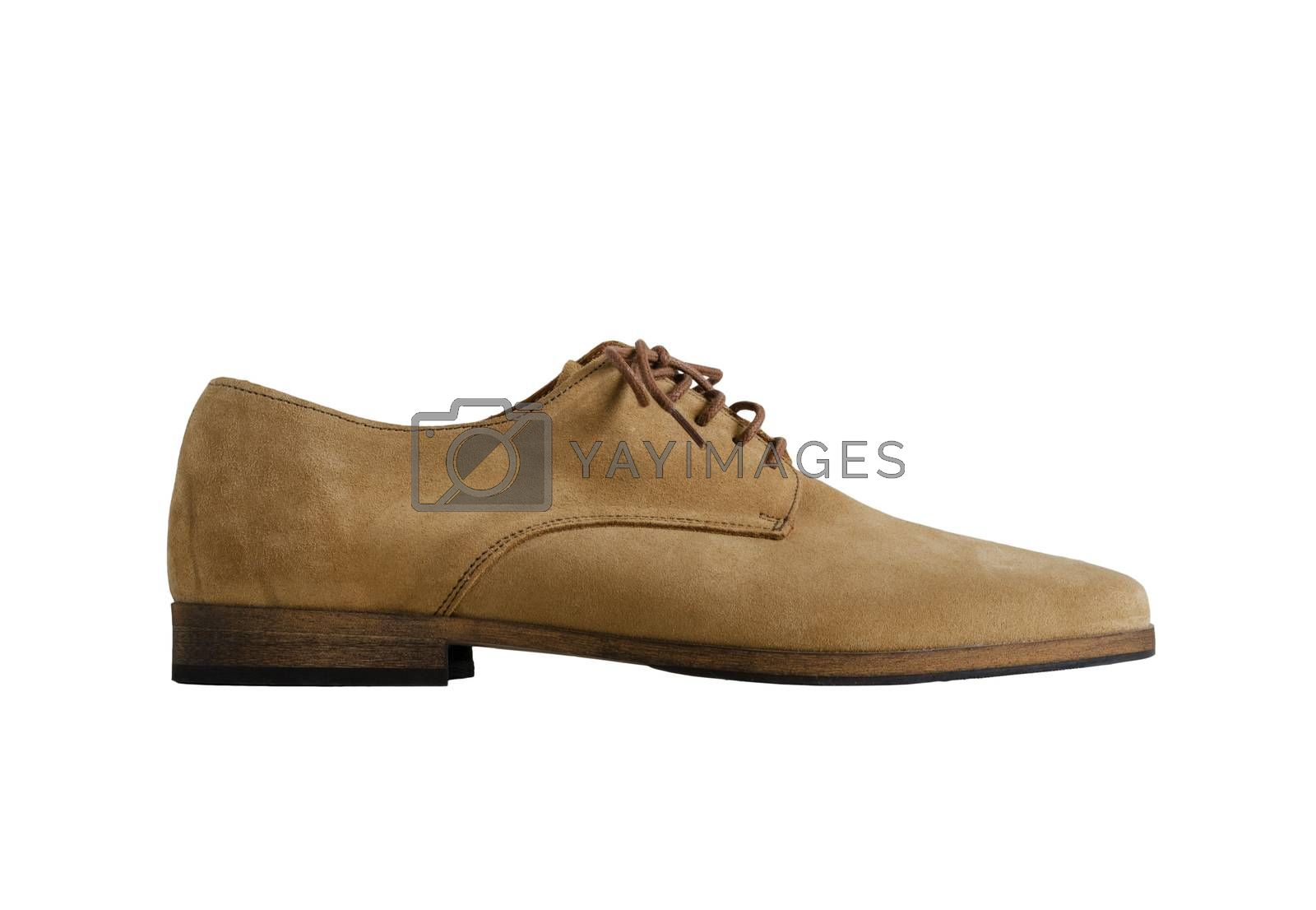 Royalty free image of Brown Man Suede Leather Shoes isolated on white by siraanamwong