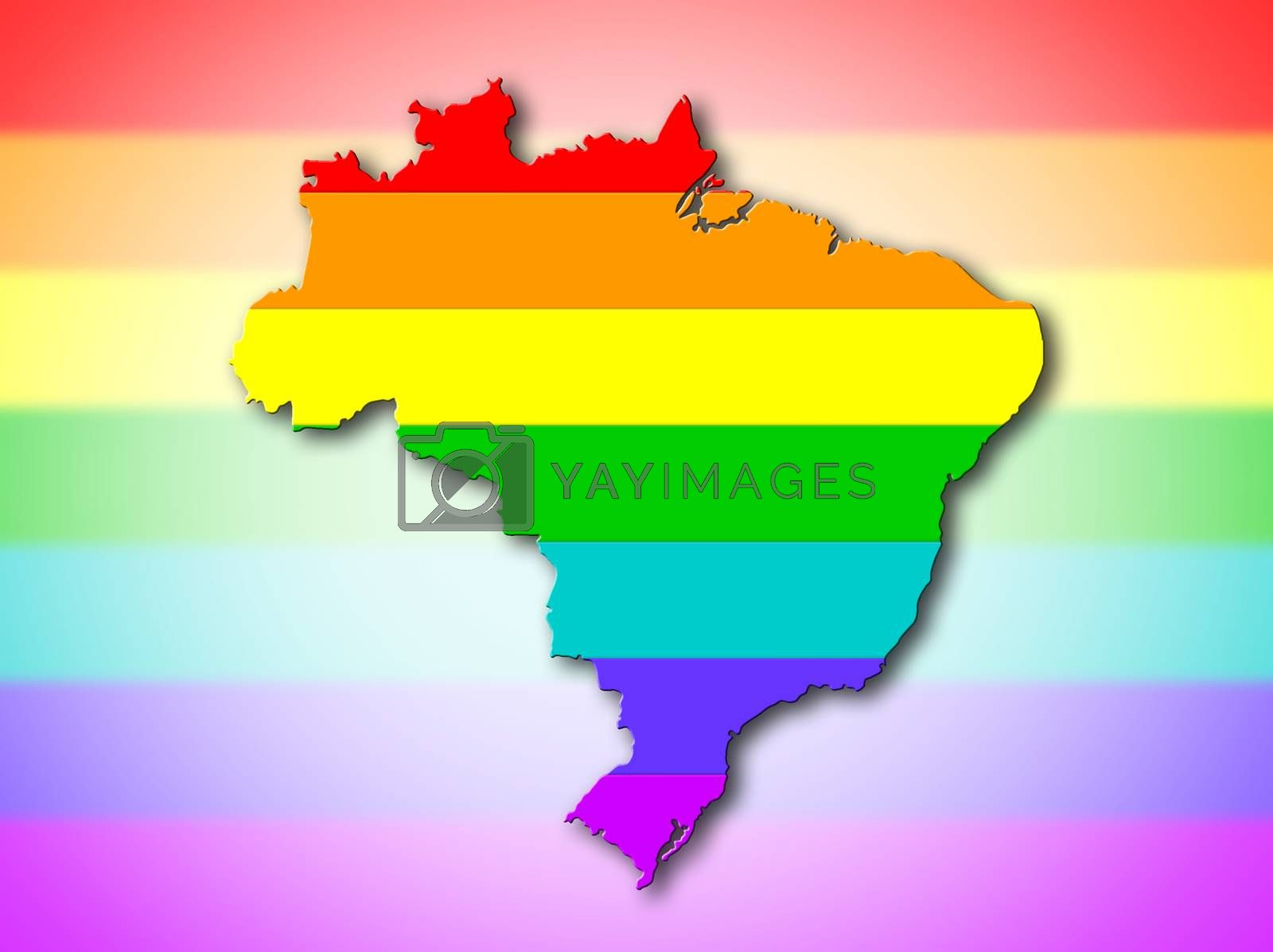 Royalty free image of Brazil - Rainbow flag pattern by michaklootwijk