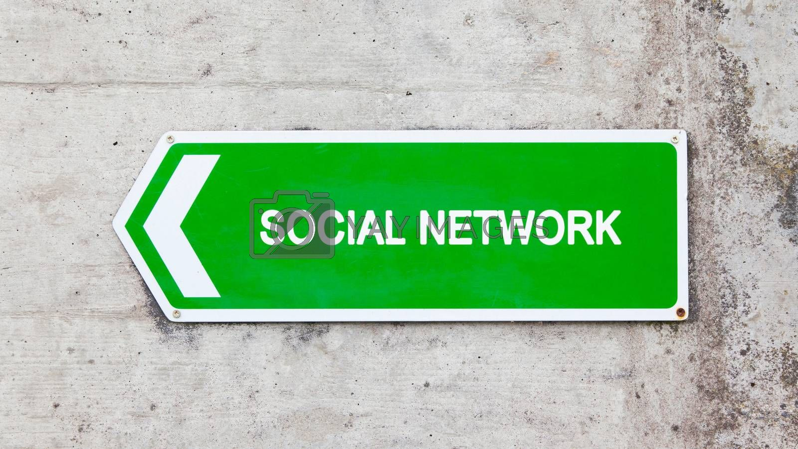 Royalty free image of Green sign - Social network by michaklootwijk
