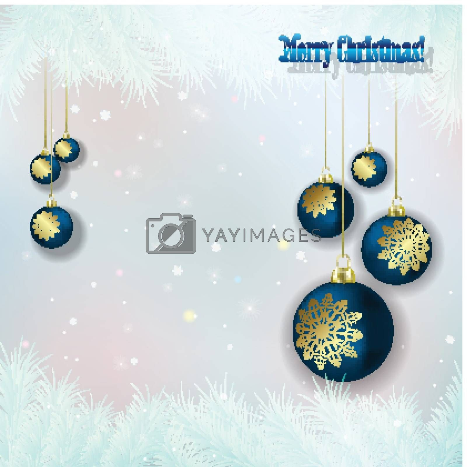 Royalty free image of Abstract background with Christmas decorations by lem