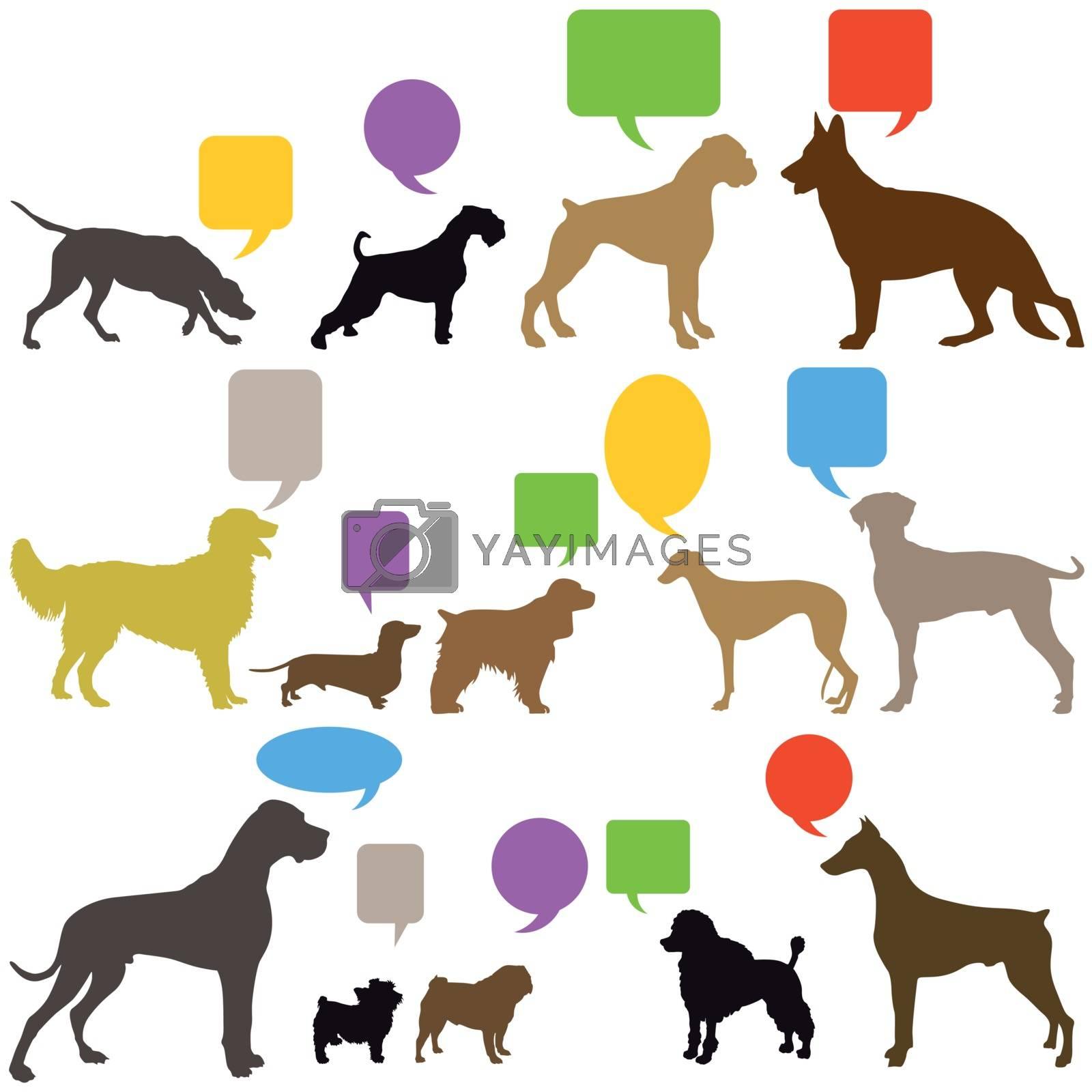 Royalty free image of Dog Sign Language by scusi