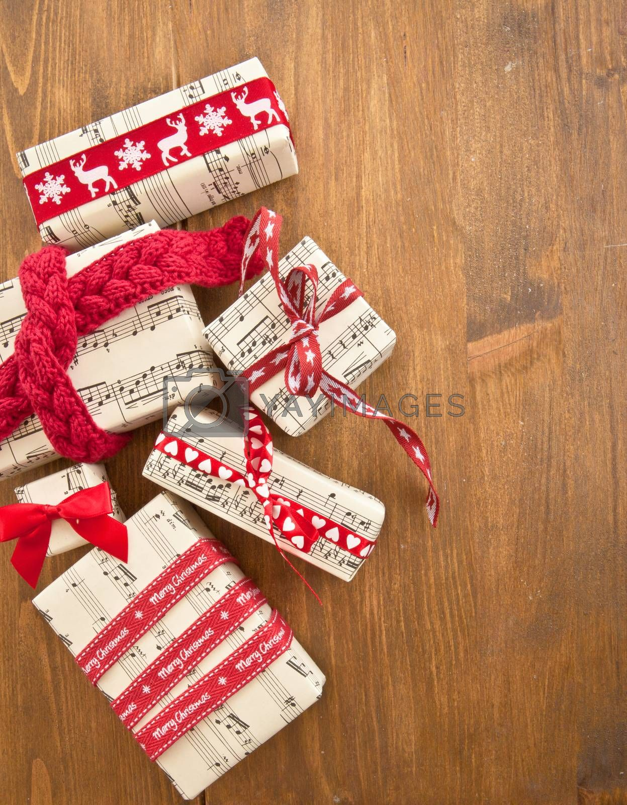 Royalty free image of Little presents in boxes by BarbaraNeveu