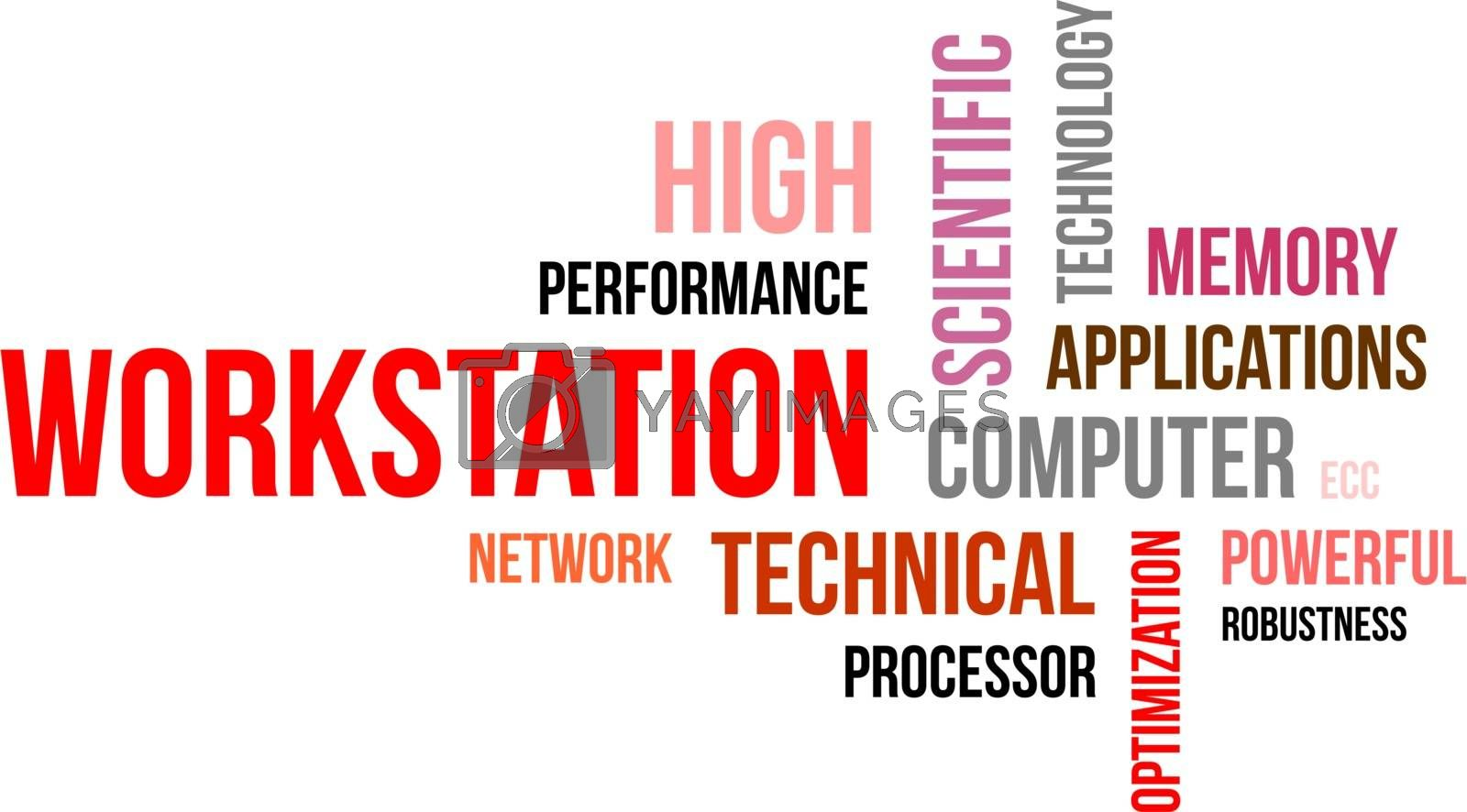 Royalty free image of word cloud - workstation by master_art