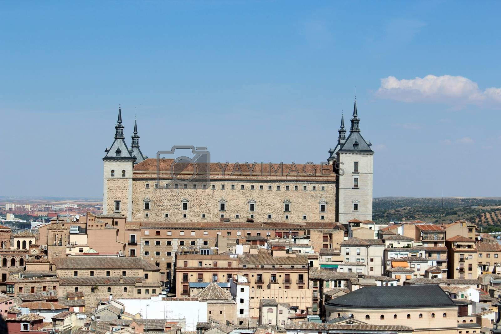 Royalty free image of Panoramic view of the old Alcazar of Toledo in Spain by aamulya