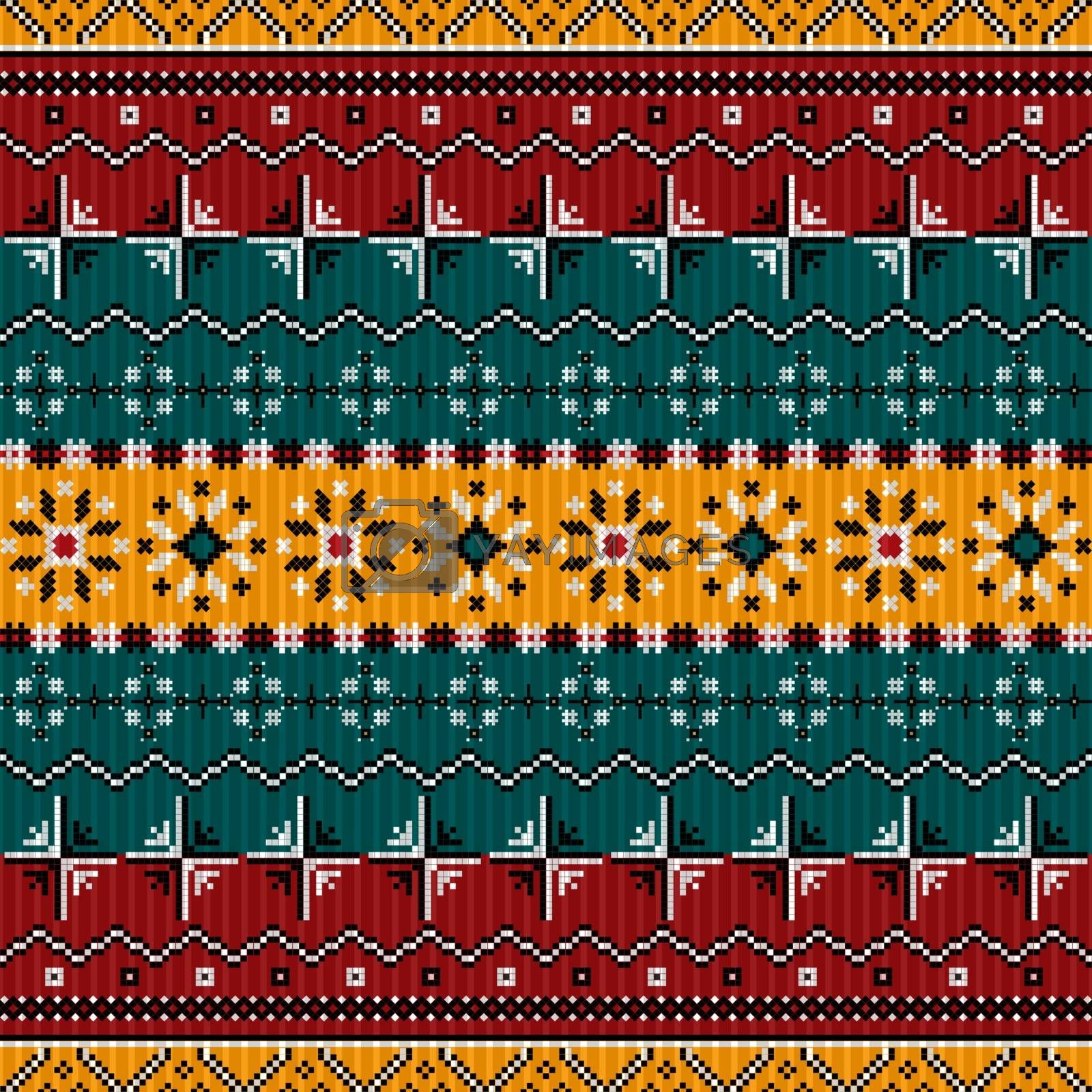 Royalty free image of Balkan style ethno country carpet by Lirch